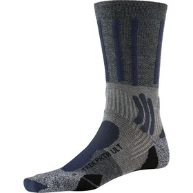 X-Socks Trek Path Ultra LT Calcetines Hombre, opal black/dolomite grey melange